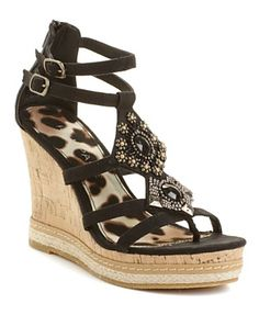 Rampage Shoes, Bastian Wedge Sandals - Shoes - Macy's  I'm buying these!