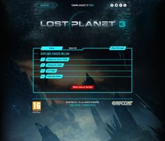 I like this site because of how they used bright colors for the click able drop boxs, also I liked how they made the drop down boxs when they are closed its transparent so you can see the image they used for the background. Another thing I like about this web site is that its clean and easy to follow through with the trailers for the video game that is going to be release soon.