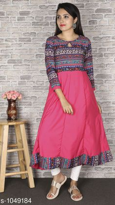 Kurtis & Kurtas Women Ethnic Motif Printed Crepe Kurti  *Fabric* Crepe  *Sleeves* Sleeves Are Included  *Chest Size * S- 36 in, M- 38 in, L- 40 in, XL- 42 in, XXL - 44 in, XXXL - 46 in, 4XL - 48 in, 5XL - 50 in, 6XL - 52 in, 7XL - 54 in  *Length* Up To 48 in  *Type* Stitched  *Description* It Has 1 Piece Of Women's Kurti  *Work * Printed  *Sizes Available* XS, S, M, L, XL, XXL, XXXL, 4XL, 5XL, 6XL, 7XL, 8XL *    Catalog Name: Women Printed Crepe Kurtis CatalogID_127705 C74-SC1001 Code: 023-1049184-