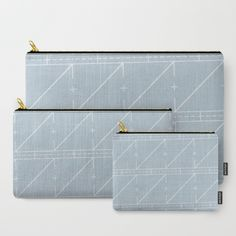 Blue Washout Carry-All Pouch