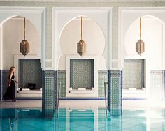 A gorgeous pool at Marrakesh's famed La Mamounia hotel. Photo by Jamie Beck.