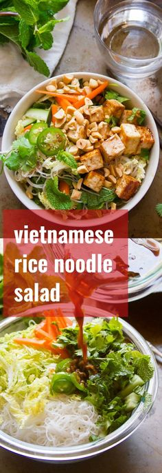 Vietnamese Rice Noodle Salad with Hoisin Glazed Tofu - Connoisseurus Veg