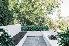 Bluestone Crazy Paving & Stepping Stone Pavers by Eco Outdoor Garden Paving, Garden Landscaping, Gravel Patio, Diy Outdoor Furniture, Garden Furniture, Mid Century Landscaping, Crazy Paving, Modern Landscape Design, Modern Backyard