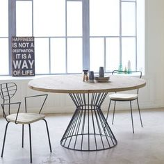 Shop the Brand: Tikamoon Large Round Dining Table, Pedestal Dining Table, Extendable Dining Table, Dining Table In Kitchen, Kitchen Decor, Claire's Kitchen, Pine Table, Cafe Tables, Center Table