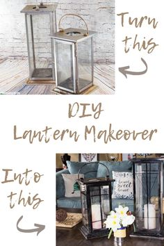 This DIY Lantern Makeover from a Garage Sale Gem is sure to inspire your creativity. Transform trash to treasure and make your own home decor, easily. Diy Lantern, Black Lantern, Crafts To Do, Diy Crafts, Garage Sale Finds, Black Spray Paint, Lanterns Decor, Diy Home Improvement, Furniture Makeover