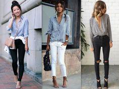 tendência-2016-primavera-verao-camisa-listrada-vertical-colorida-calça-jeans-sandalia-nude