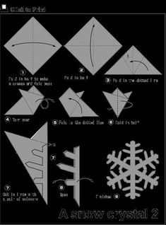 - Image – Image – - Easy Origami (Dover Origami Papercraft)over 30 simple projects Origami Fun Kit for Beginners (Dover Fun Kits) Animal Origami for the Enthusiast: Step-by-Step Instructions in Over . Paper Christmas Decorations, Snowflake Decorations, Christmas Crafts For Kids, Paper Crafts For Kids, Holiday Crafts, Christmas Diy, Paper Snowflake Patterns, Snowflake Template, Snowflake Craft
