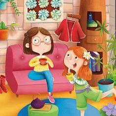 www.elisapaganelli.com #illustration #fiction #nature #childrensbook #home #italian #elisapaganelli #elliepage #living #teatime #friendship #merenda #fun #cute
