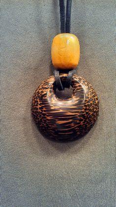 Black Palm Pendant