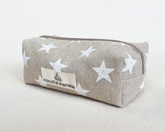 Large boho pencil case handmade with sustainable fabrics. €19.90 with free delivery Large Pencil Case, Eco Friendly Bags, Sustainable Fabrics, Wash Bags, Star Print, Paint Brushes, Travel Bag, Free Delivery, Hand Stamped