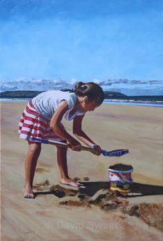 Portstewart Strand Sandcastles - OIL - Oil Paintings