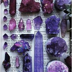 Amethyst is known as a stone of transcendence because of its powers to unplug from unhealthy attachments, cleansing the mind, body and aura from negative or addictive patterns. Wear this crystal for protection and to connect to mystical, magical energy. Crystal Aesthetic, Purple Aesthetic, Crystal Magic, Crystal Healing, Amethyst Crystal, Crystal Grid, Crystal Altar, Crystal Wall, Crystal Cluster