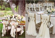Today it's all about wedding chair decor withfabric and ribbons. There are so many ways to decorate the chairs with them! If you are not planning to spend much money, then take ribbon of the suitable color or colors ...