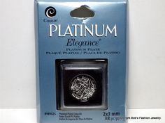 Platinum Plated Crimp Beads #Cousin