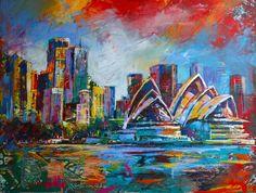 Sydney, Acrylic on Canvas www.jos-coufreur.com