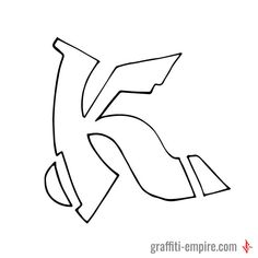 K Semi-Wildstyle Graffiti Letter | Graffiti Lettering Inspiration by Graffiti Empire #graffiti #letters #letter