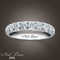 Neil Lane Bridal® 14K White Gold 1 Carat t.w. Diamond Band I need a new wedding band once I get my engagement band up upgrade :)