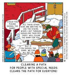 Cartoon - Clearing a path