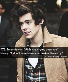 Because your beautiful and that's why you make us cry because your beautiful .  (crying)