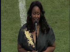 Mandisa sings the National Anthem