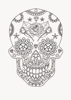 Printable Adult Coloring Pages Skulls Lovely Skull Free Printable Coloring Pages Coloringlminspector Skull Coloring Pages, Coloring Book Pages, Colouring Sheets, Sugar Skull Art, Sugar Skulls, Silhouette Clip Art, Candy Skulls, Printable Adult Coloring Pages, Printables