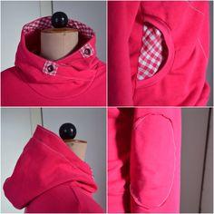 Weil es so viel Spass macht:   ein LadyBELLA Hoodie in pinkmachtglücklich. :)      Die kuschelige Kapuze habe ich vom Lou Schnittmuster gekl...