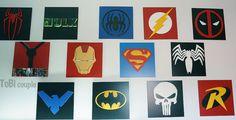 Superhero Wall art Kids bedroom wall art by HeroesCreations
