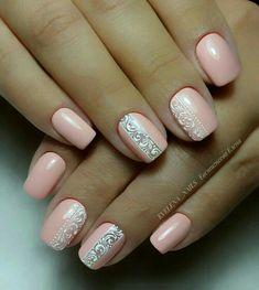 Fancy Nail Art, Fancy Nails, Pink Nails, Stylish Nails, Trendy Nails, Nail Art Arabesque, Nail Art Designs Videos, Bride Nails, Spring Nail Art
