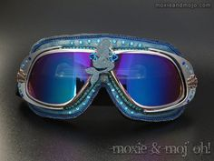 Blue Metal  Goggles Burning Man  /%100 UV Protected Perforated Lens