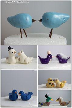 #lovebirdswedding Love Bird Wedding CakeToppers