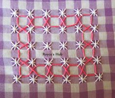 Royce's Hub: Gingham Embroidery : Ribbon Lace Stitch