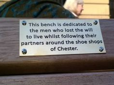 Killjoy council officials have removed a series of comedy plaques put on a street benches - aimed at bringing a smile to shopper's faces.…