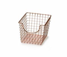 Copper Small Scoop Basket   The Organizing Store #copper #basket #organize