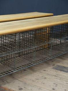 Gymnasium Shoe Rack Benches, Antique Cabinets & Storage, Drew Pritchard