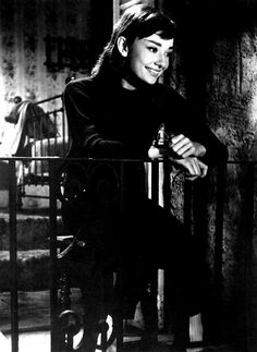 Audrey Hepburn - love the all black beatnik outfit. Long Sleeve fitted sweater and leggings! ADORE. I know who I'm being next Halloween!