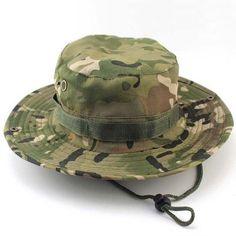 Outdoor Sports Fishing Hat Camouflage Bucket Hat Fisherman Camo Jungle Bush Hats Boonie UV Protection Wide Brim Sun Caps Ripstop