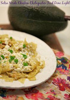 Salsa Verde Chicken Chilaquiles www.fooddonelight.com