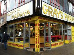 Gray's Papaya - famous dogs