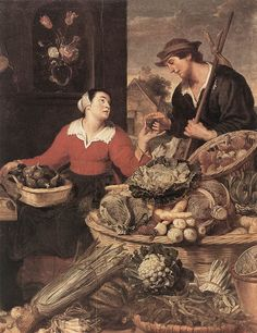Frans Snyders(1579-1657), Fruit and Vegetable Stall.