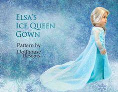 Elsa's Ice Queen Gown From Frozen | 39 American Girl Doll DIYs That Won't Break The Bank