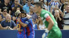 Leganes 1-5 Barcelona G Appelt Pires (80); L Messi (15, 55 pen),L Suarez (31),Neymar (44),Rafinha (64) Lionel Messi turned in a performance of the highest order, netting a brace and inspiring Barcelona to a 5-1 La Liga win at Leganes on Saturday. via @Goal #footballplanetcom #barcelona #laliga