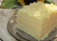 Ciasto Aniołek-śmietanowy przekładaniec Baking Recipes, Cake Recipes, Dessert Recipes, Polish Recipes, Recipes From Heaven, Food Cakes, Homemade Cakes, No Bake Desserts, Vanilla Cake