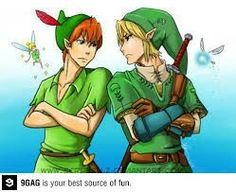 The funny thing is is that Link was based off of Peter Pan, due to Shigeru Myamoto's love of Disney(:. Well, that is if I remember it correctly