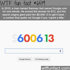 A man bought google.com domain for $12 - WTF fun facts - http://thisissnews.com/a-man-bought-google-com-domain-for-12-wtf-fun-facts/