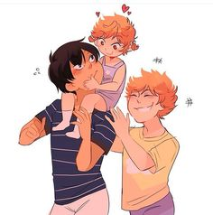Tobio, Shouyo, and Natsu - I rly rly like the idea of Natsu playing w Tobi and Shou. It's like she has a second big brother.