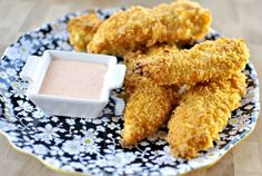 Lay's potato chips are an ideal chicken tender crust.