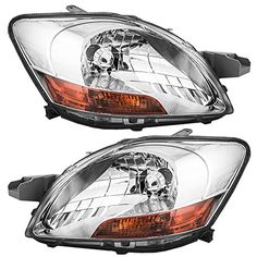 Driver and Passenger Headlights Headlamps Replacement for Toyota 8117052740 8113052750 ** Click affiliate link Amazon.com on image to review more details.