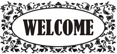 Welcome, Personalized Items, Black And White, Board, Black N White, Black White, Planks