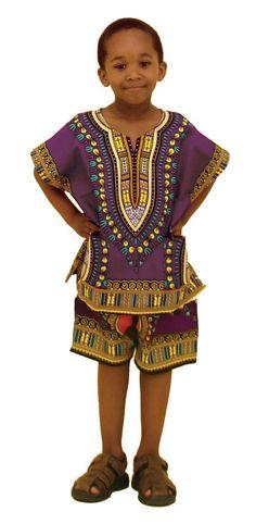 Unisex Kids Dashiki Short Set-L/XL - Beez Afrocentric Clothing & Accessories