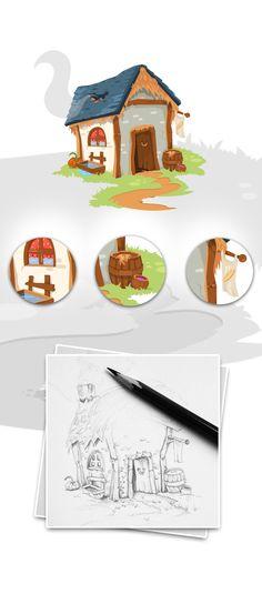 Barn House Illustration on Behance